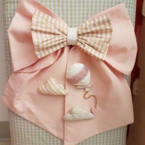Fiocco nascita cuore rosa nuvola