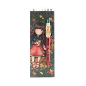 Santoro Gorjuss Notebook con penna Autumn Leaves