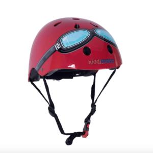 Casco da bicicletta Kiddimoto rosso con occhiali fronte 44€