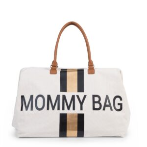 Mommy bag bianco-nero-oro